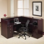 "Office Star Kenwood Series 72"" x 72"" Reception Desk w/ Two Pedestal Files (OS-KENTYP19)"
