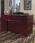 "Office Star Mendocino Series 72"" x 84"" Reception Desk w/ Two Pedestals (OS-MENTYP19)"