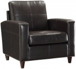 Office Star Black or Espresso Eco Leather Club Chair w/ Espresso Finish