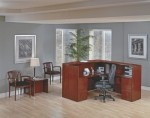 "Office Star Sonoma Series 72"" x 72"" Receptionist Desk w/ Two Pedestal Files (OS-SONTYP19)"