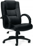 Offices To Go Executive Leather Office Chair w/ Fixed Height Arms