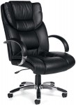 Offices To Go Executive Leather Chair w/ Polished Aluminum