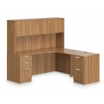 Offices To Go Laminate L-Shape Desk with Hutch