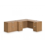 Offices To Go L-Shaped Desk w/ 2 Drawer Lateral File