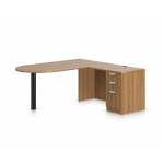 "Offices To Go 71"" Laminate L-Shape Desk and Peninsula w/ Return Shell (OTG-SL4)"