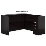 "Offices To Go 71"" Receptionist Desk w/ Reversible Return and Locking Box/Box/File Pedestal (OTG-SL7130RDS-SL4224RR-SL22BBF)"