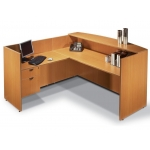 "Offices To Go 71"" Reception Desk w/ Reversible Return and Lockable Hanging Box/File Cabinet  (OTG-SL7130RDS/SL4224RR/SL22HBF)"