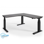 "NewHeights� Custom 24""D x 60""W x 60""L L-Shaped Corner Height Adjustable Desk (RA-246060NHRT) **Made in the USA**"