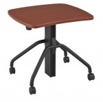 "NewHeights� Arriba Gas Lift Adjustable Desk w/ Casters - 27"" to 47"" Adjustment Range - 30lbs Capacity **Made in the USA**"