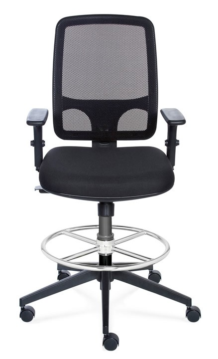 "Valo Sync Mesh Drafting Stool with Seat Height Range 19"" to 26"""