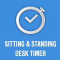 sitting and standing desk timer