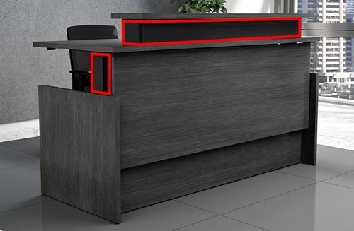 Vertdesk Executive Series Sit To Stand Reception Desk