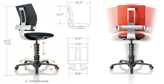 Aeris Gmbh aeris gmbh 3dee active motion chair microfiber seat