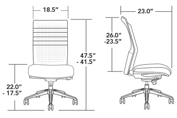 specifications of the VIA Oslo Chair