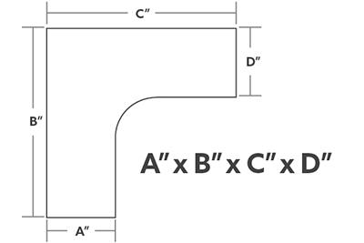 L-Shape Dimensions