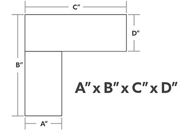 VertDesk L-Shape Dimensions